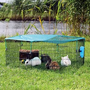 Trixie natura outdoor run for young animals with net, 6 elements of 58 × 38 cm from Trixie