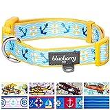 Blueberry Pet Halsbänder für Hunde 2 cm M Sonnenschein Bon Voyage Meer Liebhaber Designer Hundehalsband