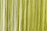 Fadenvorhang Türvorhang 90x250 cm oder 140x250 cm Fadengardine verschiedene uni Farben (90x250 grün dunkel)