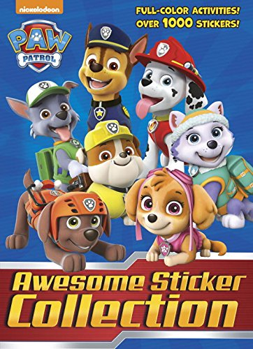 Paw Patrol Awesome Sticker Collection (Paw Patrol) (4 Color Plus 1,000 Stickers)