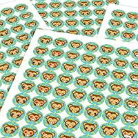 Chunky Hamster Monkey Emojis, Reward Sticker Labels, Children, Parents, Teachers