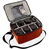 Vattentät stötsäker delning vadderade kameraväskor SLR DSLR infogningsskyddsfodral med topphandtag och justerbar axelrem för