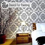 ANKARA Damast Möbel Wand Fußboden Schablones für Malerei - Wand Klein