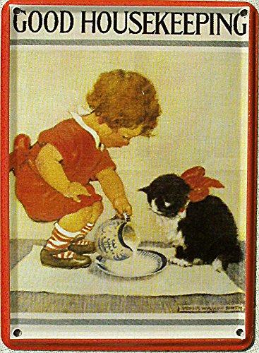 mini-blechschild-good-housekeeping-katze-8-x-11-cm