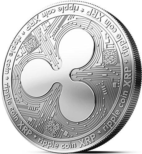 innoGadgets Physische Ripple Medaille mit echtem Silber überzogen. Wahres Sammlerstück mit Münzkapsel - Kollektion 2018. EIN Muss für jeden Krypto-Fan
