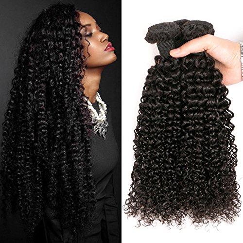 DAIMER Brazilian Kinky Curly Virgin Hair 3 Bundles Hair Weave 10a 100...