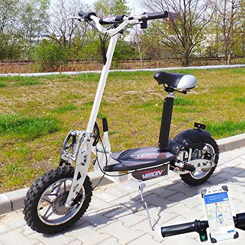 Viron Elektro Scooter 1000 Watt E-Scooter Roller 36V/1000W Elektroroller V.7 (weiss)