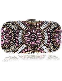 Damen Clutch Bags Seidenkleid Abendtasche Handtaschen Geldbörse Für Party Hochzeitsclubs,Silver-OneSize Addora