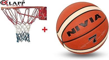 Nivia Engraver Basketball With Klapp Basketball Ring