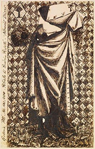 Kunst Galerie Kostüm - Das Museum Outlet-Weiblich-Frau in Mittelalter Kostüm, ca1855, gespannte Leinwand Galerie verpackt. 50,8x 71,1cm
