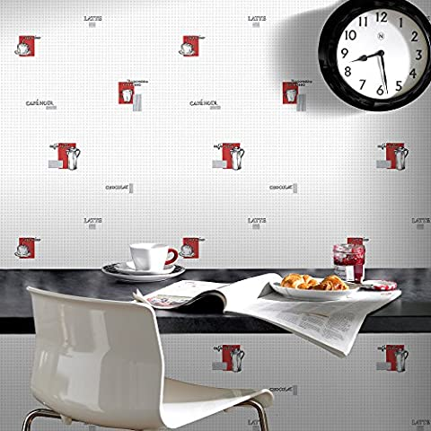Contour Espresso Kitchen/Bathroom Grey/Red Durable