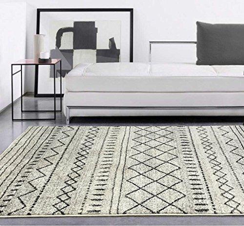 Contemporáneo moderno Bereber patrón suave al tacto gris–Home–Alfombra (120x 170cm)