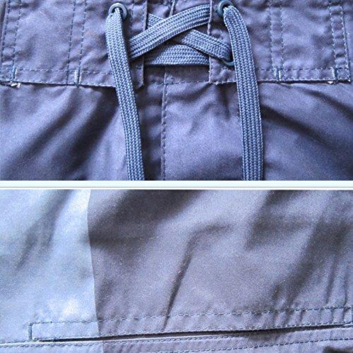 Herren Badeshorts - Klassische Streifen atmungsaktive Shorts - Kurze beach shorts Blau