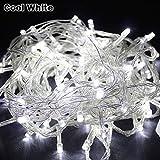 kingtoys® LED Luces de Cuerda 10M 100LED luces de Navidad Hadas Impermeable Enchufe de la UE para la Fiesta de Navidad de Luces Decorativas, Blanco