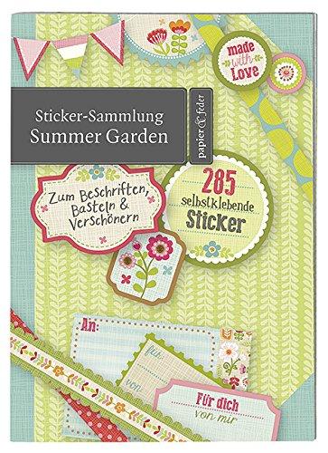 Preisvergleich Produktbild Moses 80585 Papier und Feder Sticker-Sammlung Summer Garden
