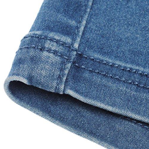 Golddigga Damen Bestickte Shorts Denim Freizeit Sommer Kurze Hose Jeanshose Authentische Waschung