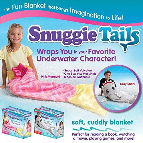 Kids Mädchen Allstar Snuggie Decke Bett Wrap Überwurf aus Plüsch Warm Tails kuschelig Fun gemütlich Nachtwäsche (Lange Alligator Ärmel)