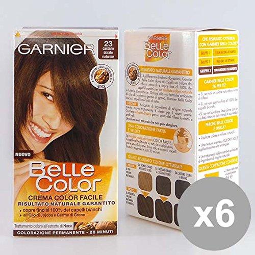 Set 6 BELLE Color 23 Castano Ch.Dor.Natu Colorazioni per capelli