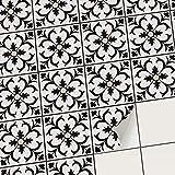 creatisto Mosaik Klebefliesen Stickerfliesen Fliesenfolie - Hochwertige Aufkleber Sticker für Fliesen | Stickerfliesen - Mosaikfliesen für Küche, Bad, WC Bordüre (15x15 cm | 54 -Teilig)