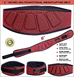 Xtrim 6-inch Weightlifting Contoured and Ultra-Light Foam Core Belt for Stabilizing Back Support