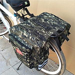 perfectshow Ampliado 35L MTB Bicicleta de montaña engrosada de camuflaje a prueba de agua Bolsa de sillín Multifunción bicicleta de carretera Alforja de asiento trasero Bolsa de troncos