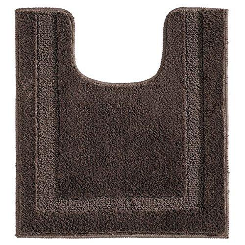 Mdesign tappeto bagno microfibra per water – tappetino wc modellato – tappetino bagno antiscivolo fronte water – caffè