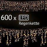LD Weihnachten Deko 600 LED Lichterkette Weihnachten Regenkette Lichtervorhang Eisregen