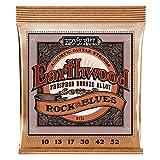 Ernie Ball Earthwood Rock et Blues avec cordes guitare acoustique en bronze phosphoreux Plain Gauge - jauge 10-52