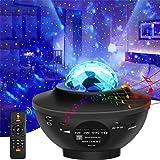 Senders-lamp met sterrenprojector, met 10 modi, led-muzieklamp, romantisch, met bluetooth-luidspreker, afstandsbediening, tim