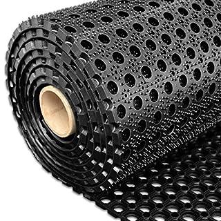Profi Ringgummimatte von etm | Gummimatte für den Eingangsbereich außen und innen | Matte mit robuster Ringgummi Struktur | Größe wählbar ( 60x80 cm )