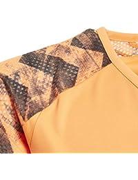 Adidas Yg Run tee Camisa de Golf, Niñas, Naranja (naalre), 164 (13/14 años)