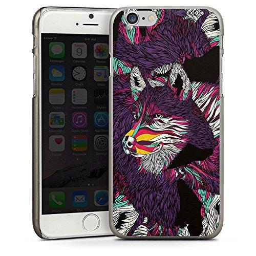 Apple iPhone 5 Housse étui coque protection Loup Husky Chien CasDur anthracite clair