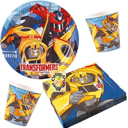 HHO Transformers RID Partyset 52tlg. für 16 Kinder Teller Becher Servietten (Party Dekorationen Transformers)