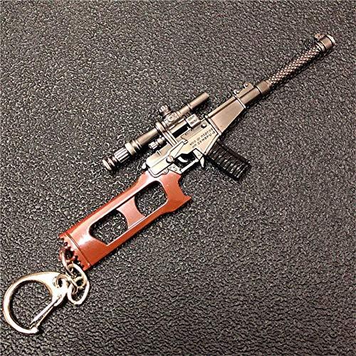 mougu8003 Pubg Llavero Juego Arma Metal 98K Gun AWM Colgante Hecho a Mano Vss