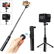 Selfie Stick Tripod with Wireless Bluetooth Remote, Innoo Tech 3 in 1 Extendable Monopod Mini Pocket Aluminum Selfie Stick Un