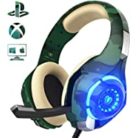 Beexcellent Gaming Headset für PS4 PC Xbox One, LED Licht Crystal Clarity Sound Professional…
