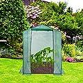 Relaxdays Foliengewächshaus, begehbar, Tür, Balkon & Garten, Stecksystem, Tomatengewächshaus, HBT: 200x155x155 cm, grün von Relaxdays - Du und dein Garten