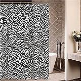 MyLifeUNIT negro/de cebra 182,88 cm X 182,88 cm cortina de ducha