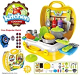 #10: Kids Choice Kids Luxury Kitchen Playset Super Toy for Girls, Multi Color