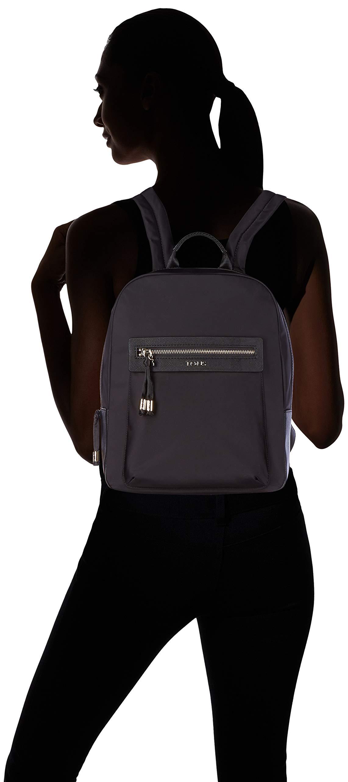 61RGdXQFkUL - Tous 695810087, Bolso Mochila para Mujer, (Negro), 26x33x9.5 cm (W x H x L)