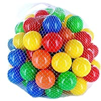 LONGMIRE Baby Kids Play 50 Pieces Medium Size Soft Plastic Non Toxic Balls for Kids 1 Year Old Girls