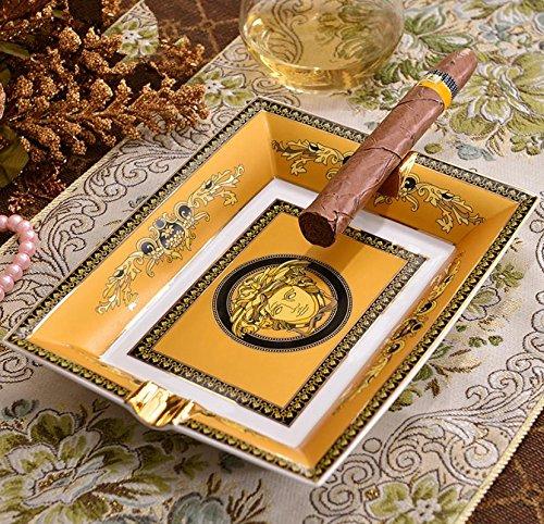 AA Europäische Vintage exquisite Keramik Zigarre Aschenbecher/high-end/Luxus/große Astray/dekorative Ornamente , 1