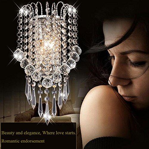 OYGROUP Moderne Kristall Wandleuchte Mit Kristallkugel Wandleuchte Leuchte Für Zuhause Schlafzimmer wohnzimmer Flur Treppen Hotels Lichter (E14 Buchse) (Alle Glas-kristall-kronleuchter)