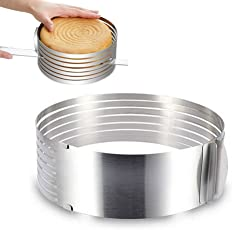 Kentop Tortenboden Schneidehilfe Edelstahl Mousse Ring DIY Kuchen Schneider Verstellbar Backformen