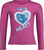 Wendepailletten Shirt Langarm in Glitzerndem Pink mit Herz zum wenden von BLUE EFFECT 5175 (86/92)