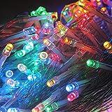 HJ® 500 LEDs 100M RGB LED Lichterkette Weihnachtslichterkette Dekolichterkette Mischenfarbe Außenlichterkette ideal für Party Garten Schaufenster Hochzeiten Weihnachten Tannenbaum