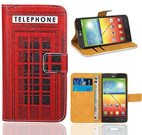 L70 Lg Case Für Handy Optimus (LG Optimus L70 / LG L70 Handy Tasche, FoneExpert Wallet Case Flip Cover Hüllen Etui Ledertasche Lederhülle Premium Schutzhülle für LG Optimus L70 / LG L70)