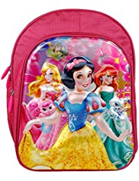 RBRN Beautiful Princess School Bag With 3D Effect Lightweight Suitable For 5-7 Years (Pink For Girls)