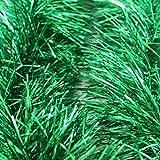 Dresseto 10,8M Verde/metálico Guirnalda de espumillón de Navidad árbol decoración...