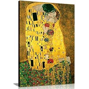 Gustav Klimt Leinwanddruck, Der Kuss, A0 91x61cm (36x24in)